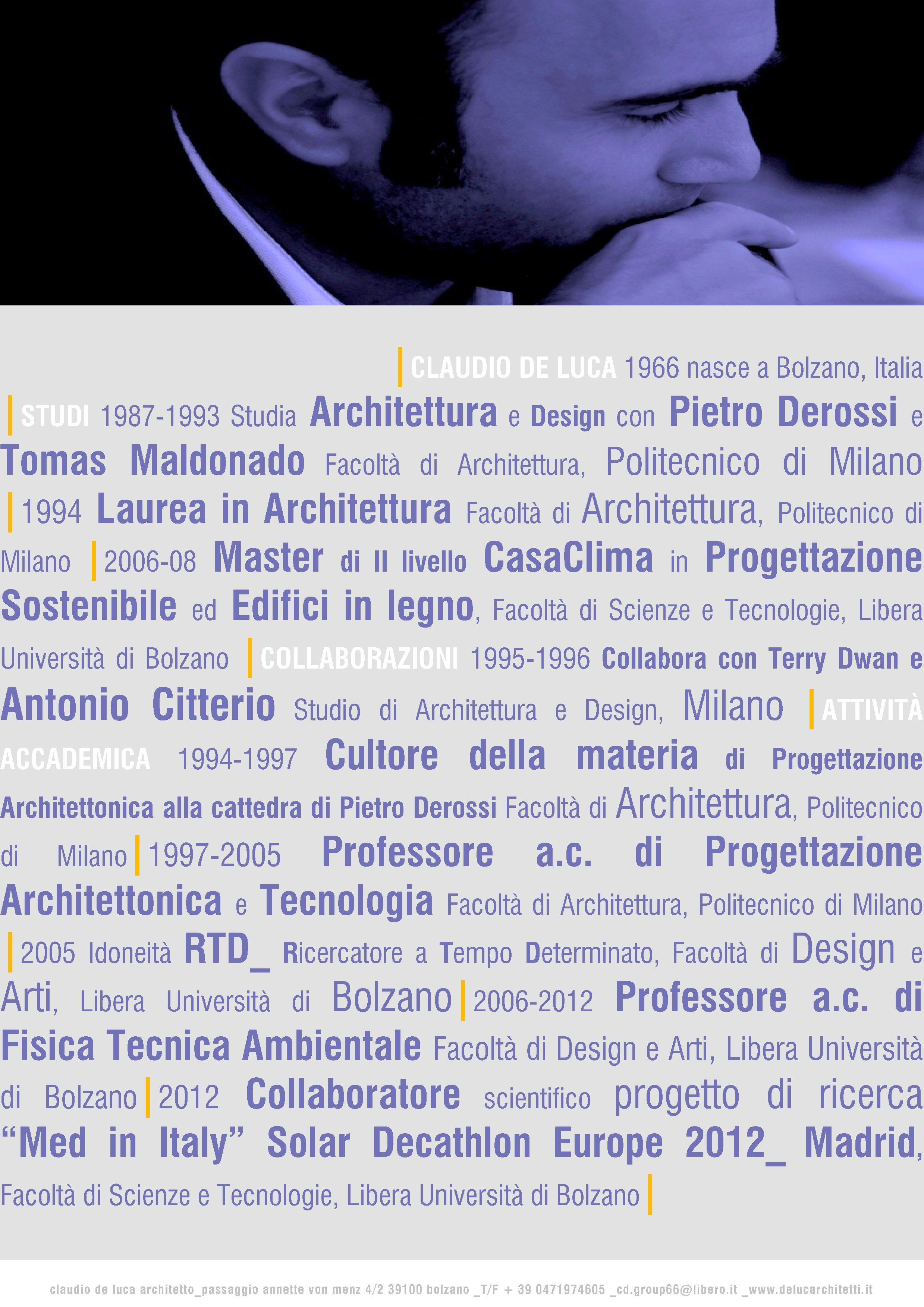 Claudio De Luca Architetto Bolzano